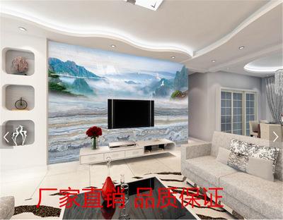 厂家直销批发欧式石纹背景墙壁画瓷砖微晶大理石