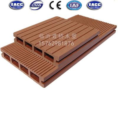 君桥木塑地板 135*25mm平面地板 栈道/码头 pe复合地板 防腐木塑
