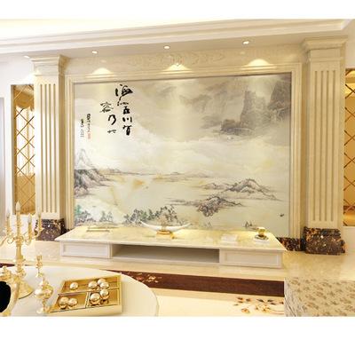 电视背景墙加工定制人造石岗石罗马柱客厅大理石罗马柱石材罗马柱