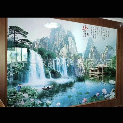 厂家生产3D打印画 3d打印背景墙UV板 3d打印集成墙板