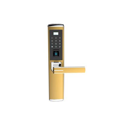 HW-904ZS 密码感应智能直板指纹锁 家用防盗门密码锁 锁具批发