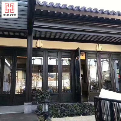 厂家定制古建工程门窗 隔音隔热四合院古典门窗 中式复古风格门窗