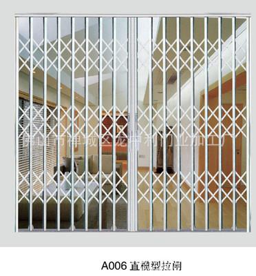阳台不锈钢拉闸门 推拉防盗窗 庭院伸缩门 庭院门配件 不锈钢