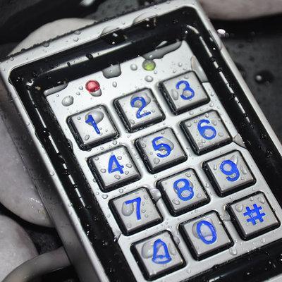 IC卡刷卡密码金属门禁室外防水防雨门禁一体机WG26读头IP68防水