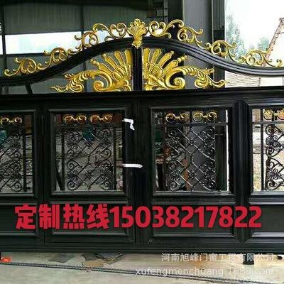 欧式风格庭院装饰铝艺大门 加工定做铝艺大门 厂家直销