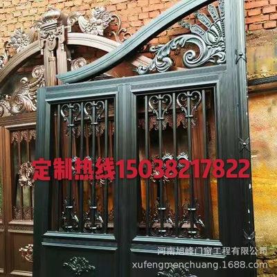 河南厂家直销别墅小区大门 欧式铁艺大门 庭院大门 可定做防盗门