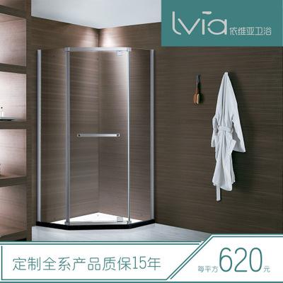 广东专业生产淋浴房厂家 铰链 厂家直销 简易款 屏风单开门