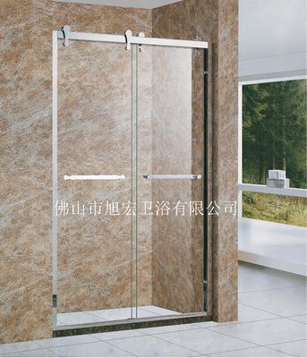 佛山厂家定制304不锈钢淋浴房酒店家家隔断浴屏玻璃淋浴间移门