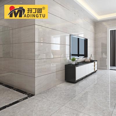 玛丁图 现代简约灰色通体大理石瓷砖400x800客厅墙砖防滑地板砖