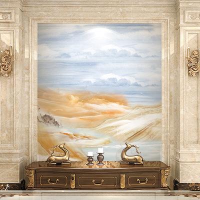 电视背景墙瓷砖欧式现代玄关背景墙简约客厅3D微晶石大理石 玄关