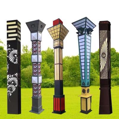 厂家定制非标大型景观灯5米6米户外方形柱灯公园小区道路灯庭院灯