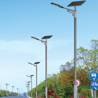 景泰美丽乡村太阳能led道路灯 6米7米8米锂电池新农村建设公路灯