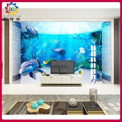 室内装饰工厂直销瓷砖背景墙 3D海洋微晶石防滑儿童房浴室内墙砖