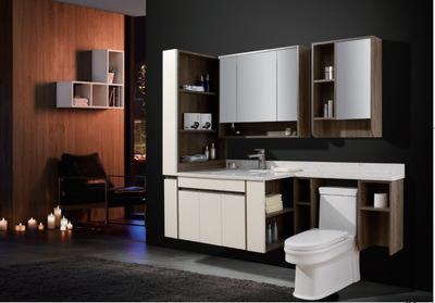 生产厂家可定制北欧系列实木浴柜 LED智能浴镜组合浴室柜DP-1010