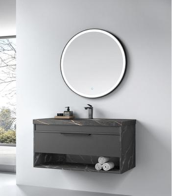 佛山岩板浴室柜可定制实木轻奢浴室柜台下盆智能浴镜组合浴柜