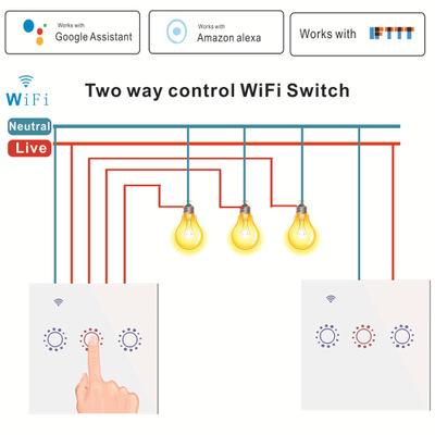 彪王工厂直销WiFi智能遥控触摸双控墙壁开关 WiFi双控智能面板