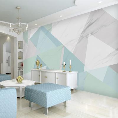 几何图案电视背景墙纸创意个性沙发背景壁纸客厅卧室北欧无缝壁画