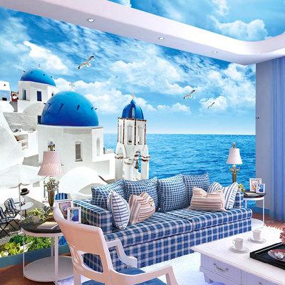 3d立体墙纸卧室沙发客厅电视背景墙壁纸大型壁画定制无缝墙布装修