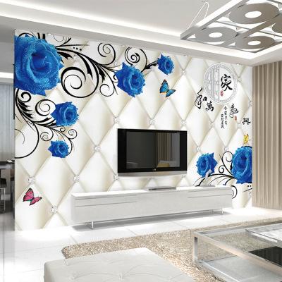 5d电视背景墙壁纸现代简约3d立体卧室墙纸壁布客厅影视墙装饰壁画