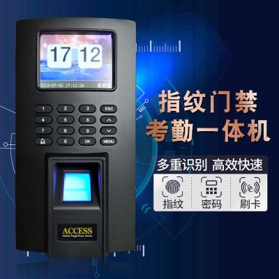 厂家直销指纹密码门禁机考勤机门禁一体机办公室签到密码打卡机