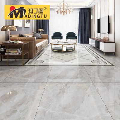 玛丁图 通体大理石瓷砖800x800地板砖新款客厅灰色地砖背景墙磁砖