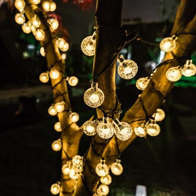 亚马逊爆款LED太阳能户外防水彩灯圣诞节灯串阳台花园庭院装饰灯