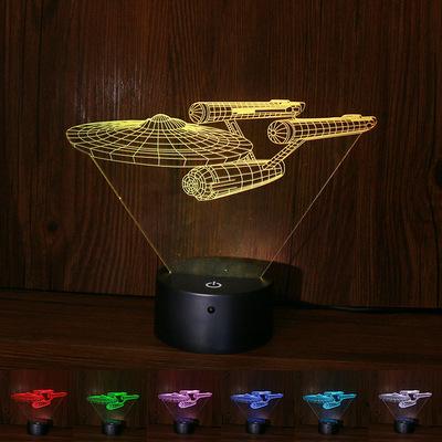 新奇特星际迷3d灯客厅卧室触控遥控led小夜灯亚克力定制外贸跨境