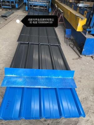 厂家生产:工地围墙彩钢单瓦 工程围挡板 工厂围栏彩钢瓦 亮瓦