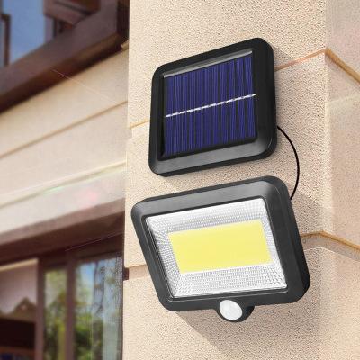 厂家直销分体式太阳能56led感应壁灯 100COB分离式室内户外庭院灯