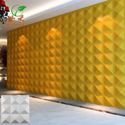 厂家直销新款三维板9格钻3D立体浮雕墙贴30*30 防水防污墙贴包邮