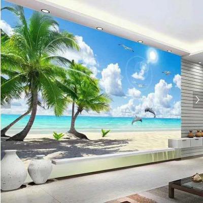 厂家供应 打印背景墙壁画壁纸墙贴 电视背景墙装饰画 定制
