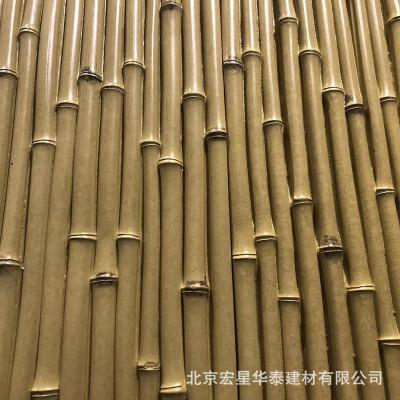 竹子排手工砖马赛克高档会所酒店客厅背景墙玄关瓷砖北欧风格园林
