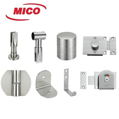厂家供应 304不锈钢精铸 卫生间隔断配件 洗手间五金 指示锁
