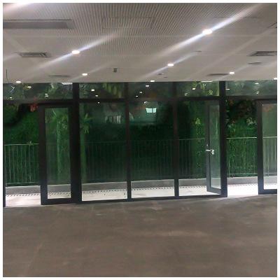 钢制防火玻璃隔墙 通道 办公室 卫生间钢化玻璃隔断 防火隔断