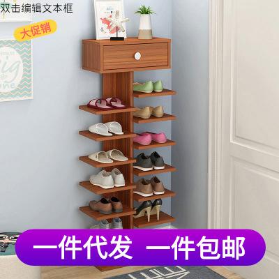 宿舍创意鱼骨鞋架竖立式个人节省空间单排窄小型鞋柜ins北欧网红
