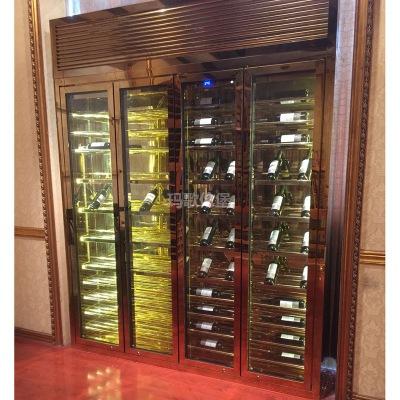 厂家定制不锈钢恒温酒柜 红酒柜不锈钢酒柜来图来样定制加工