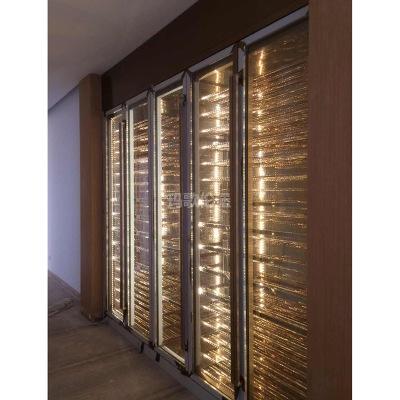 专业定制常温不锈钢酒柜 现代简约红酒柜内嵌式不锈钢展示柜定制
