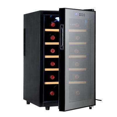 美伴家28支榉木架全玻璃葡萄酒柜新款触摸屏冰吧家用恒温红酒柜