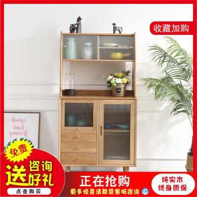 管木匠北欧樱桃木酒柜日式厨房组合家具现代简约高柜碗柜厂家直销