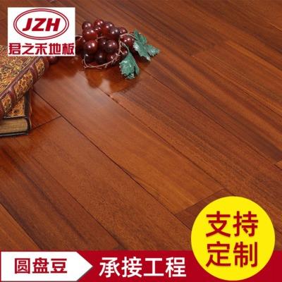 大量销售607圆盘豆实木地板 木色木地板家用卧室拼花地板量大优惠