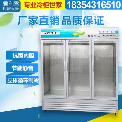批发冷藏展示柜立式商用冰柜冰箱啤酒饮品保鲜柜大容量三门饮料柜