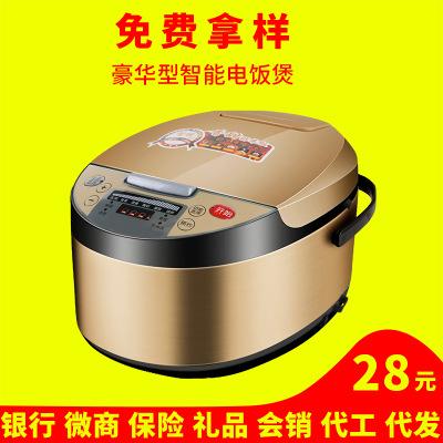厂家直销多功能电饭煲5L大容量家用3-6人电饭锅批发会销礼品代发