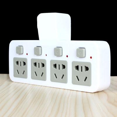 一转多位带usb手机充电开关小夜灯不带线多功能转换器插座