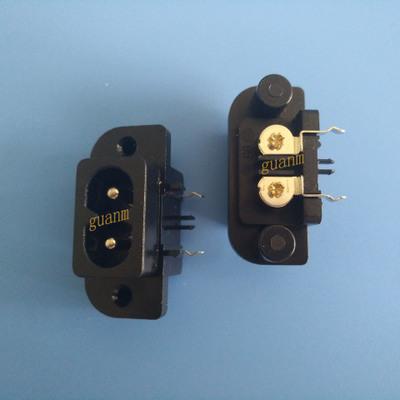 DB-8-7AP20八字插座 8字插座 AC电源插座 锁螺丝式 UL CCC VDE KC