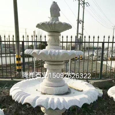 厂家直销石雕花盆 黄锈石花钵 天然石材园林广场雕塑摆件