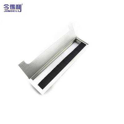 长方形走线盖厂家直销 铝合金线盒 金属穿线盒办公桌走线孔盖