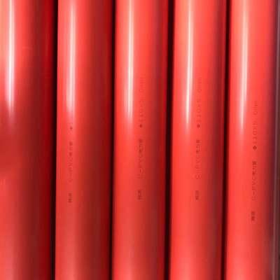 PVC埋地开挖管穿线管CPVC电力管110电线电缆PVC管厂家直供