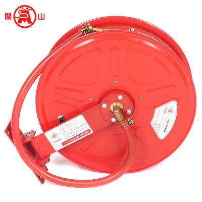 直销闽山消防软管卷盘水带卷盘转盘消火栓箱19毫米口径软管