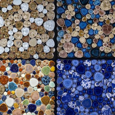 特价自由石陶瓷鱼水池艺术马赛克浴室地面墙面背景墙工程花台瓷砖