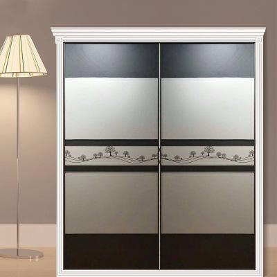 衣柜移门厂家直供现代简约衣柜推拉门经济型门板式来图定制柜门